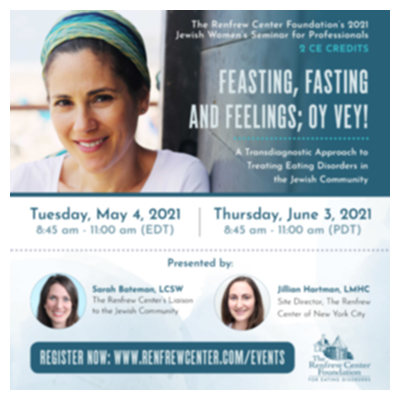 Feasting, Fasting and Feelings; Oy Vey! A Transdiagnostic Approach to Treating Eating Disorders in the Jewish Community